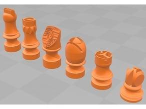 German car chess pieces