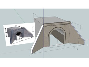 Old HO Scale Modular Tunnel Portal for 1 lane