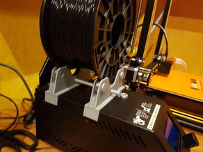 Updated Creality CR-10 Bearing Filament Spool Holder (V7)