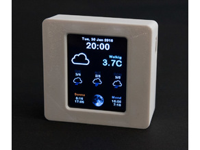 Larger Case for Adafruit ESP8266 Color WiFi Weather Station