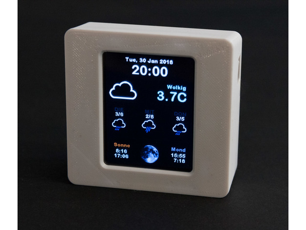 Larger Case for Adafruit ESP8266 Color WiFi Weather Station