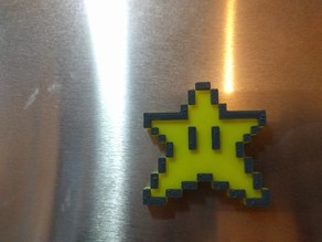 Mario Star Fridge Magnet