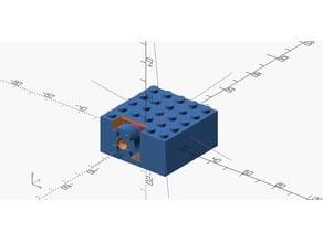 fully integrated Lego servo bracket