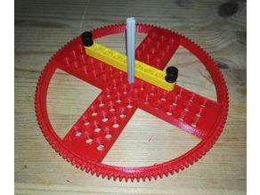 Lego 128 tooth gear with mounting holes