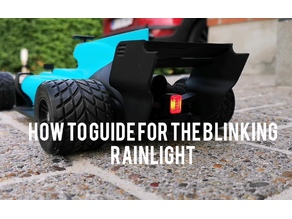 OpenRC F1 Blinking Rainlight V2.0 - Controllable from remote