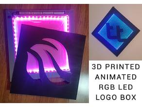 Fully printable RGB LED logo box