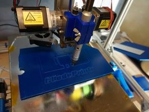 Proxxon flex shaft mount  (engrave with your 3D printer)