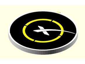 Space X landing platform QI charger