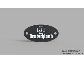 Rammstein - Deutschland Plakette