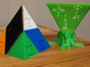 3D Pyramid Tangram with Sphinx Holder