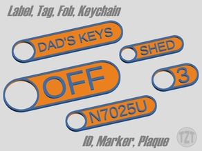 Customizer - Label, Tag, Fob, Keychain, ID, Marker, Plaque