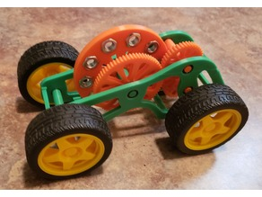 Flywheel Powered Car