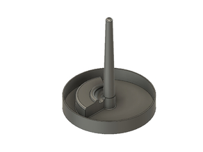 Lost PLA Casting Tree with Tapered Sprue & Pouring Basin