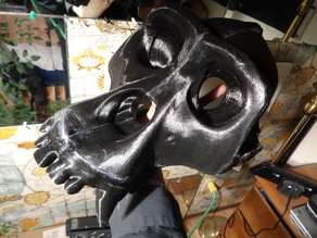 Realistic Gorilla Skull Mask