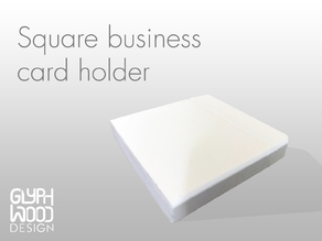 Square business card holder