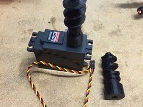 InMoov robot. Screws for Shoulder with Hitec D1 splines.