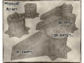 Modular Altars For Dungeons & Dragons, Warhammer Fantasy or tabletop games.