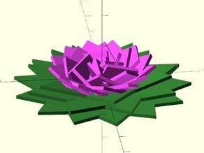 Geometric Fibonacci Flower Generator