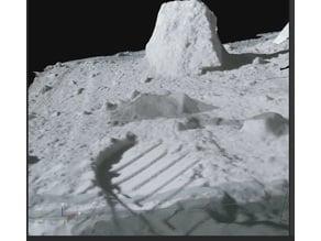 Moon close up of a Apollo 16 moon surface