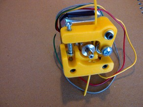 Printrbot Direct-Drive Aluminum Extruder - 3D printed