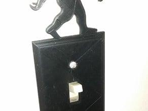 Sasquatch toggle light switch cover