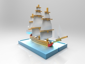 74 guns Napoleonic Ship of the Line. For wargaming.