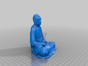 Low Poly Chinese Luohan (Arhat) Statue