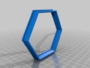 """hexagon 3"""" Cookie Cutter"""