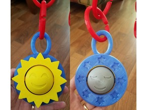 Baby Toy Sun and Moon Spinner