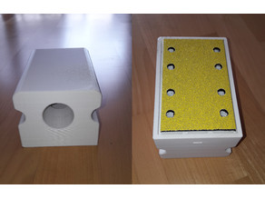 Big sanding block with improoved dust extraction and punching tool