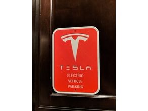 Tesla Electric Vehicle Parking Sign