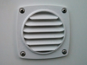 Air Grille 92x92mm (72x72mm holes)