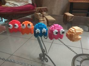 8 bits style PacMan and ghosts - Separate parts (no glue needed)