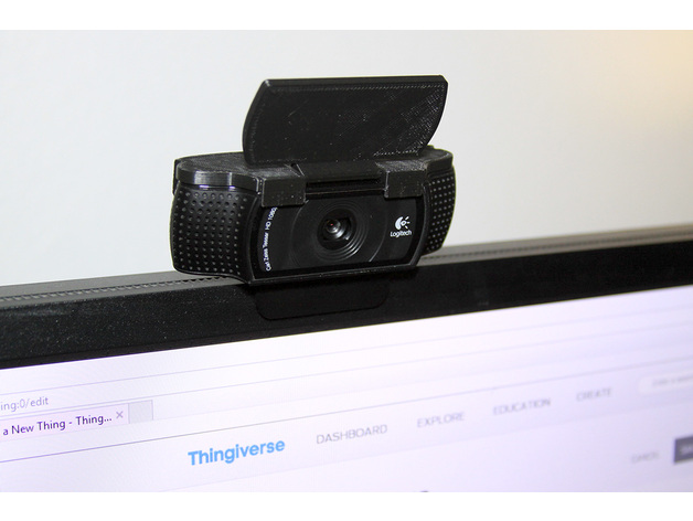 Logitech C920 Webcam Cover By Onlytono Thingiverse