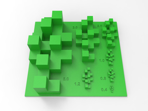 Cube Print Test Model for Minecraft