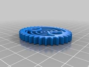 Ellipse Gear with Spiral Design
