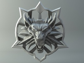 Medallion - Witcher Wolf - Last wish