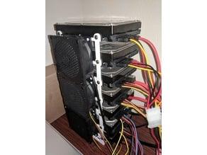 Modular hdd rack stackable 3.5 hard drive bracket 80 mm fan mount