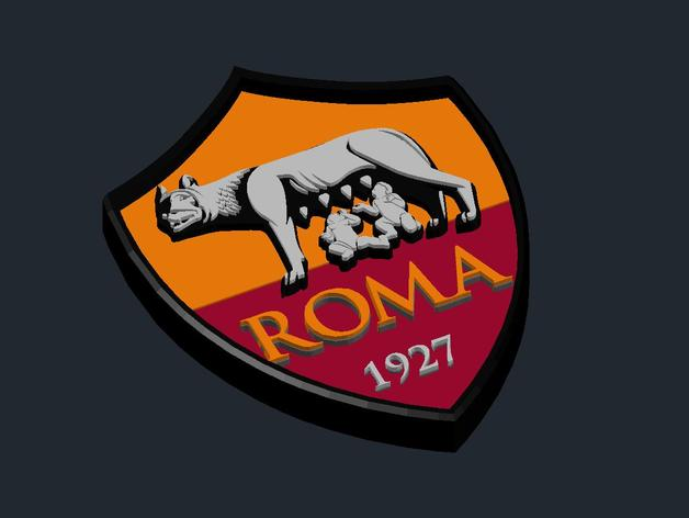 As Roma Logo By Csd Salzburg Thingiverse