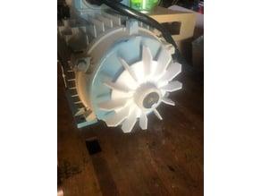 Electric motor cooling fan 24mm shaft