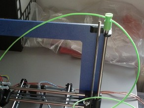 Filament guide for Prusa i3 with slot