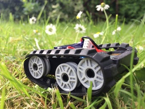 Mini Lego tracked rover for N20 Motors