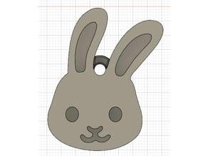 Emoji Rabbit Keychain