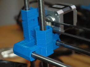 Prusa felt X Axis for use with ACME lead screw and nuts
