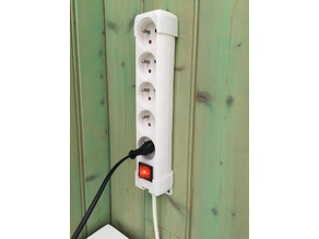 Support mural pour multiprise _ Wall mount for power strip