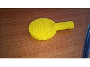 Table tennis racket-like pendant