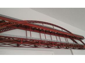 Ho Scale WallMount Bridge Collection - Straight - Iron Arch