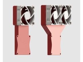 Anycubic Kossel Single + Dual Fan Adapter for Noctua NF-A4x10 (40mm Fan)