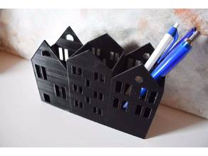 pencil holder house candle light box home
