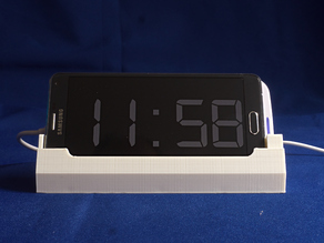 Stand for Note 4 and Qi charger to provide bedside night clock